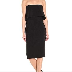 Likely Driggs Black Strapless Dress